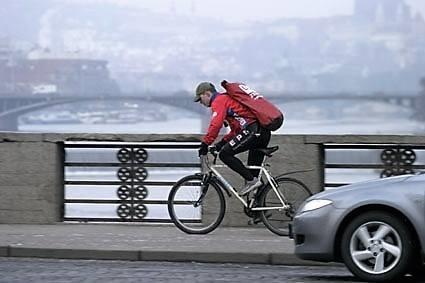 Omezení cyklistů v centru Prahy